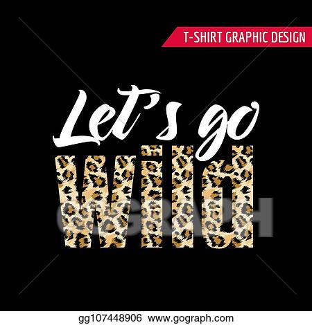 Vector Clipart Fashionable Tshirt Design With Leopard