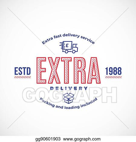 vector clipart fast delivery service sign emblem or logo template
