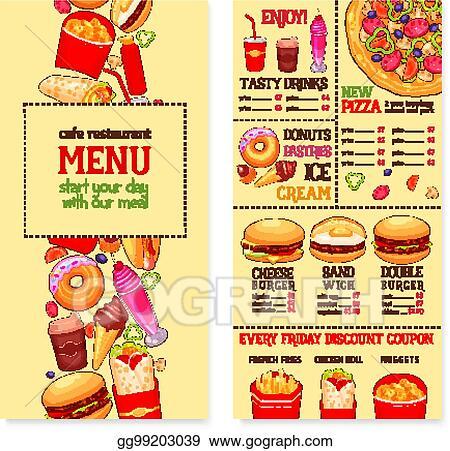 clip art vector fast food restaurant menu template stock eps