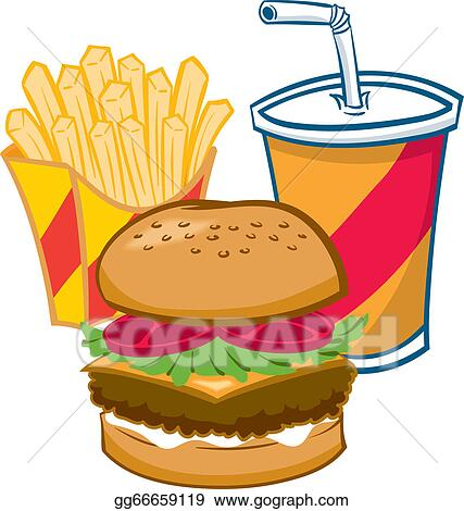 vector art fast food eps clipart gg66659119 gograph rh gograph com fast food restaurant clipart fast food worker clipart