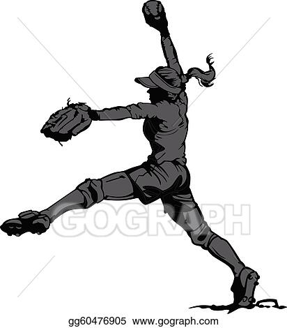 fast pitch softball clip art royalty free gograph rh gograph com Fastpitch Softball Silhouette Fastpitch Softball Pitching