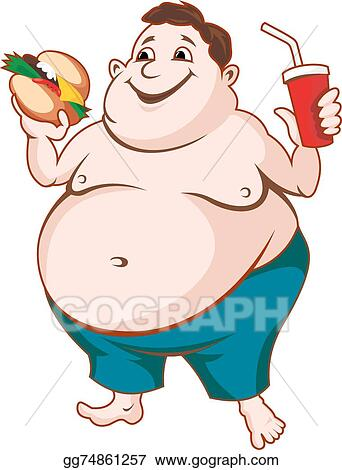 vector art fat man clipart drawing gg74861257 gograph rh gograph com Fat Guy Exercising Clip Art short fat guy clipart