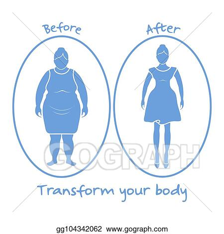 Vector Stock Fat Woman And Shapely Woman Transform Your Body Clipart Illustration Gg104342062 Gograph