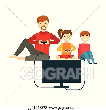 Family games vector illustration. Clipart   k38060283   Fotosearch