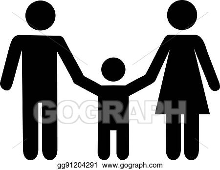 Vector Art Father Son And Mother Icon Clipart Drawing Gg91204291