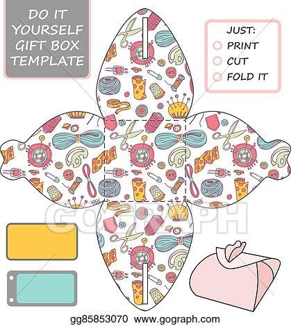 Clip art vector favor gift box die cut box template stock eps favor gift box die cut box template solutioingenieria Images