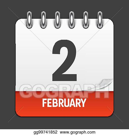 Vector Art February 2 Calendar Daily Icon Vector Illustration