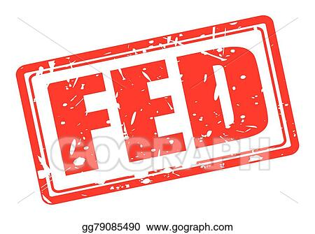 Eps Vector Fed Red Stamp Text On White Stock Clipart