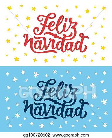 Eps Illustration Feliz Navidad Lettering Merry Christmas