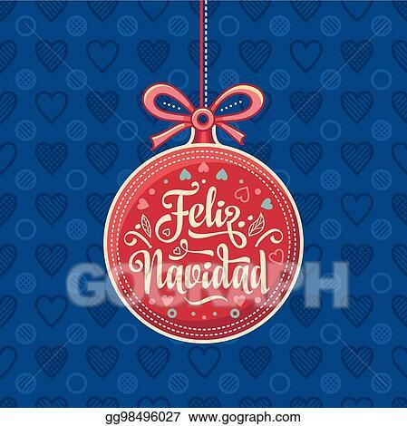 Vector stock feliz navidad red christmas ball with good wishes in feliz navidad red christmas ball with good wishes in spanish m4hsunfo