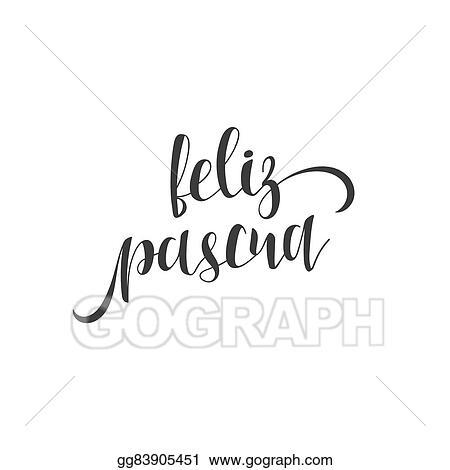 Eps illustration feliz pascua greeting inscription happy easter greeting inscription happy easter in spanish m4hsunfo