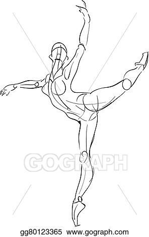 Vector Illustration Female Anatomy Drawing Sketch Stock Clip Art