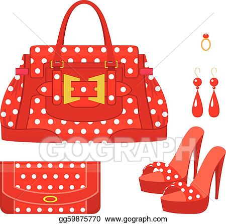 Vector Illustration - Female bag, purse and shoes . Stock Clip Art ... 0bcd287e6f