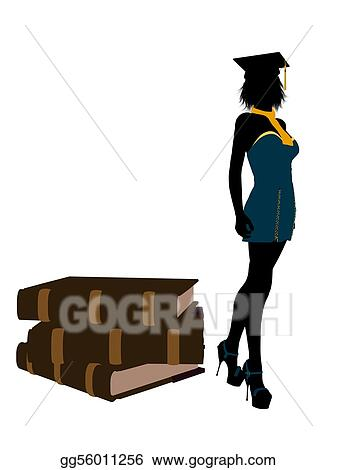 drawing female graduate illustration silhouette clipart drawing gg56011256 gograph