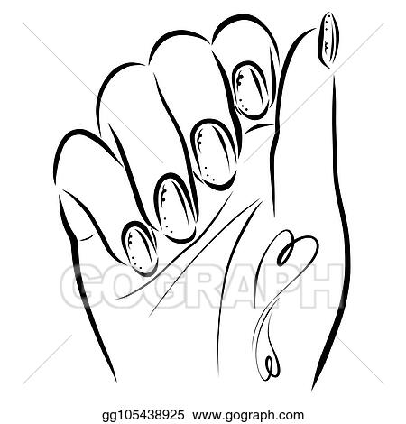 Stock Illustration - Female hand with heart-shaped tattoos ...