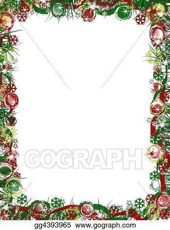 Christmas Border Design.Stock Illustration Festive Christmas Border Clipart