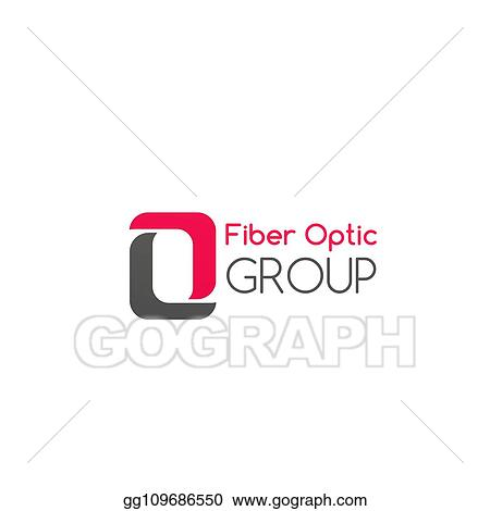 EPS Vector - Fiber optic group vector badge  Stock Clipart