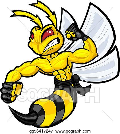 vector stock fighting hornet stock clip art gg56417247 gograph rh gograph com azle hornet clip art hornet clip art