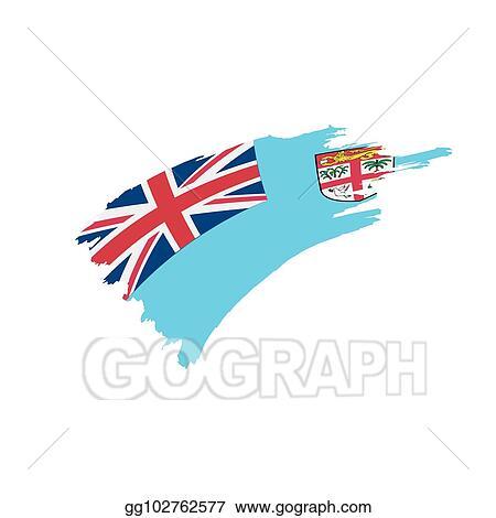 Vector Art Fiji Flag Vector Illustration Eps Clipart