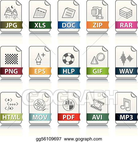 eps illustration file extension icons vector clipart gg56109697