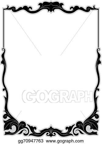 vector stock filigree frame stock clip art gg70947763 gograph rh gograph com filigree clip art design and borders software filigree clip art no watermark