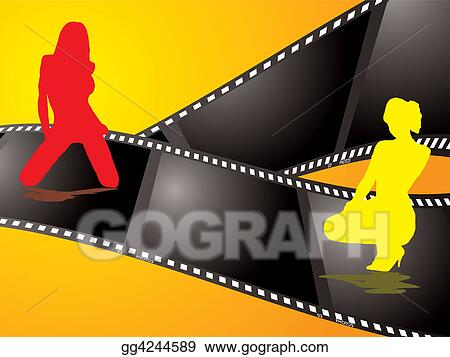 Stock illustration film background clipart drawing gg4244589 stock illustration abstract film background with two women sitting on the film reflected in the surface clipart drawing gg4244589 voltagebd Image collections