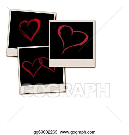 Stock Illustration - Film frames for valentines day. Clipart Drawing ...