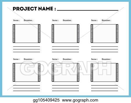 vector art film storyboard composition scene template clipart