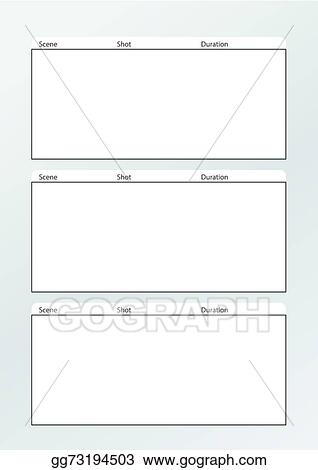 Vector Stock Film Storyboard Template Vertical X3 Stock Clip Art