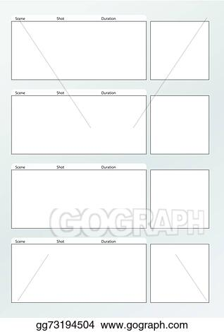 Clip Art Vector - Film storyboard template vertical x4. Stock EPS ...