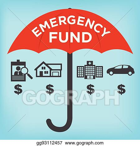 Eps Vector Financial Emergency Fund Icons With Umbrella Home Or Rh Gograph Com Procedures Clip Art Response
