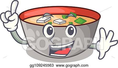 Vector Stock Finger Delicious Meal Of Miso Soup Cartoon Clipart