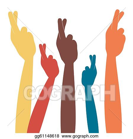 vector stock fingers crossed for luck vector stock clip art rh gograph com keeping my fingers crossed clipart keeping my fingers crossed clipart