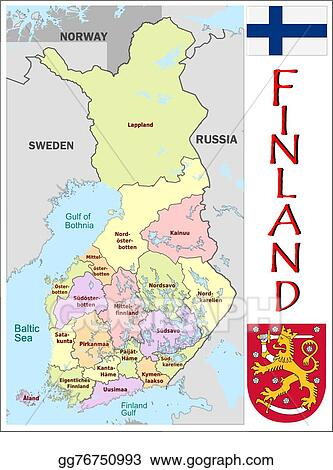 Vector Clipart Finland administrative divisions Vector
