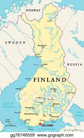 Vector Stock Finland Political Map Clipart Illustration