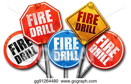 stock illustrations fire drill 3d rendering street signs stock rh gograph com fire drill clipart fire drill clipart black and white