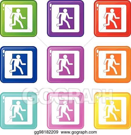 Emergency Exit Sign clip art Clipart Images