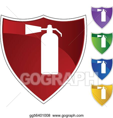 Vector Art - Fire extinguisher  Clipart Drawing gg56401008