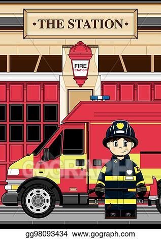 Cartoon Fire Truck Images, Stock Photos & Vectors | Shutterstock