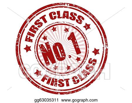EPS Illustration - First class stamp  Vector Clipart gg63035311