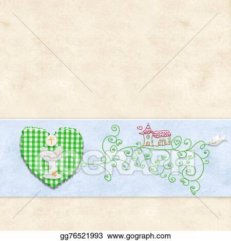 Stock illustration first holy communion greeting card clipart first holy communion greeting card m4hsunfo