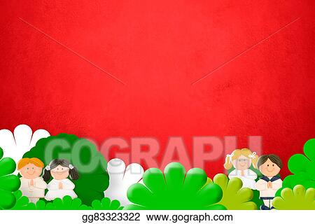 Stock Illustration First Holy Communion Invitation Clipart