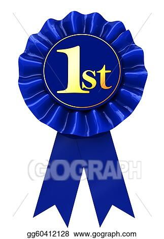 stock illustration first place ribbon clipart gg60412128 gograph rh gograph com first place ribbon clip art free first place ribbon clip art free
