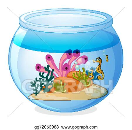 Vector Clipart Fish Tank Vector Illustration Gg72053968 Gograph