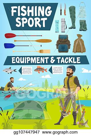 Vector Art Fisher Men Catching Fish On Lake In Boat Clipart