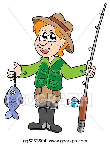stock illustration fisherman with rod clip art gg5263504 gograph rh gograph com fisherman clipart png fisherman clipart png