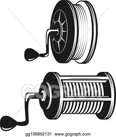 vector stock fishing reel silhouette stock clip art gg106852131