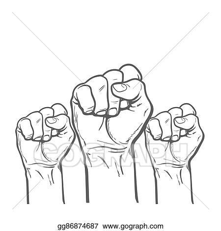 Drawing Fist As A Symbol Of Good Luck Strength And Determination