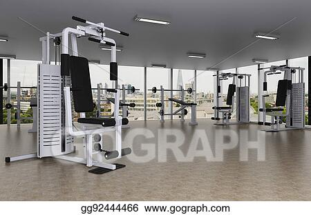 Stock illustration fitness center clipart drawing gg