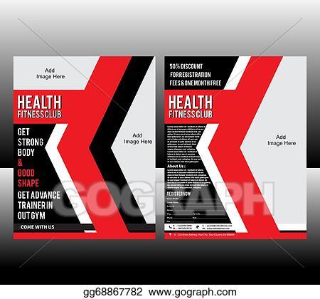 clip art fitness flyer template stock illustration gg68867782